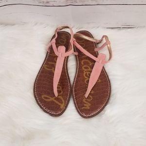 SAM EDELMAN GiGi Pink T Strap Sandals